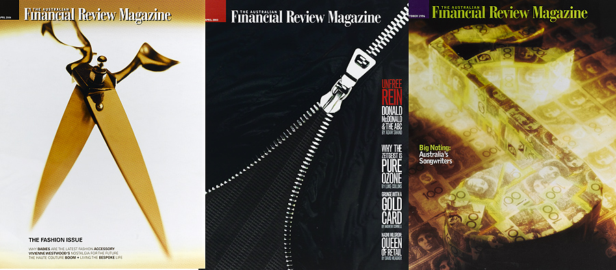 Financial Review Magazine Covers still life photography
