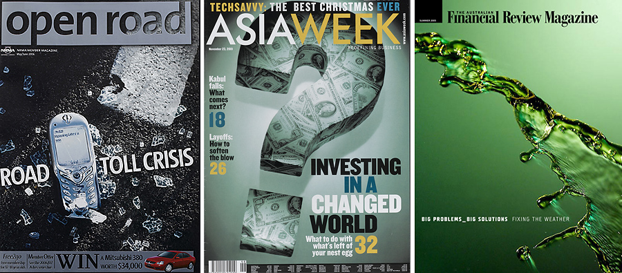Financial Review Magazine Covers editorial photography of still life