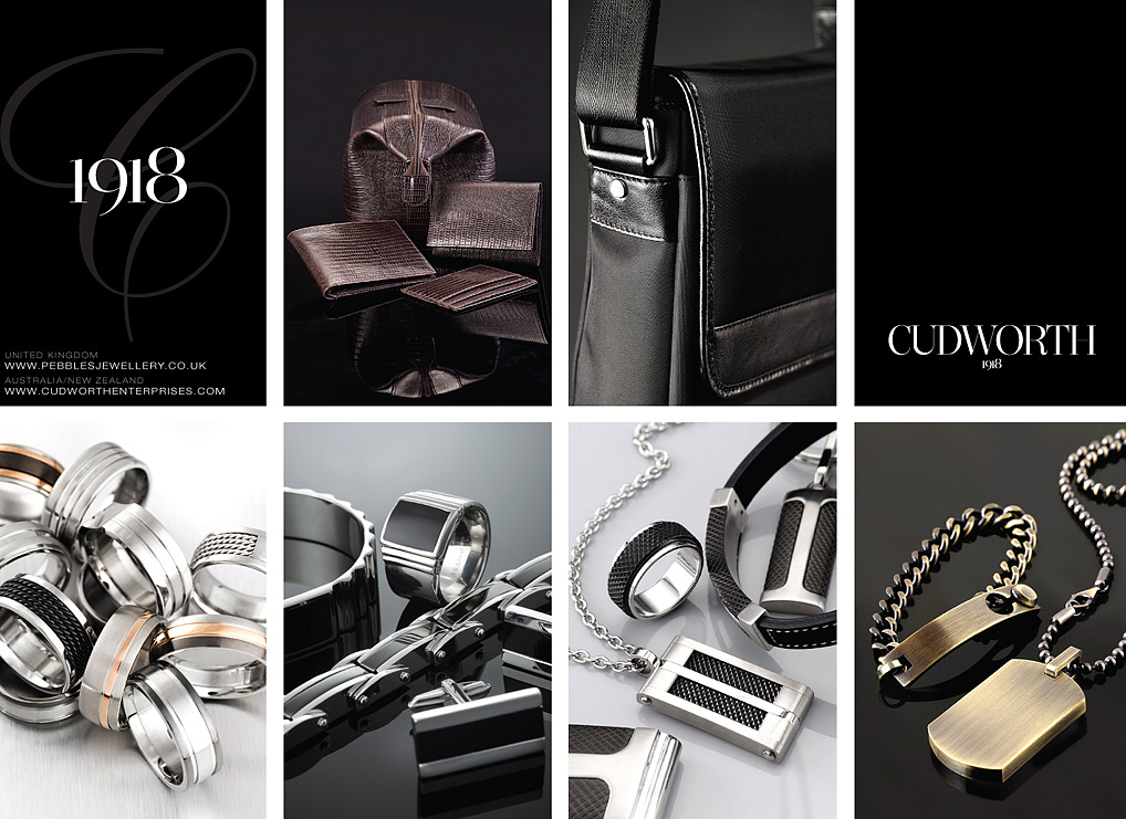 luxury brand of leather and jewellery still life
