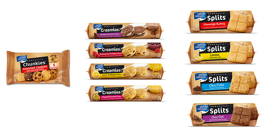 still life of biscuits for packaging photography