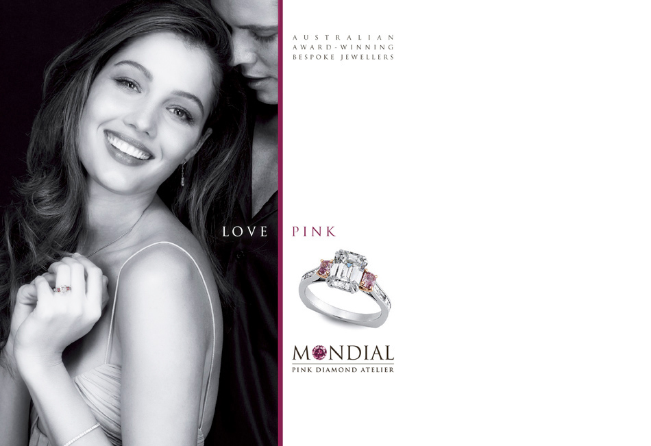 Mondial Jewellery on woman with diamonds for mothers day