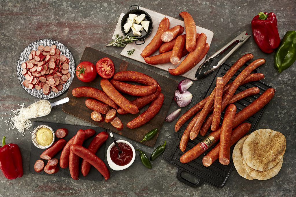 sausage still life on plate pulled pork for primo food still life photography
